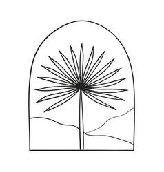 Bohemian modern arch logo design palm mountains vector