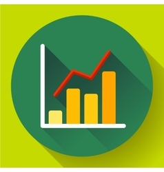 Business diagram chart icon Modern flat 20 vector