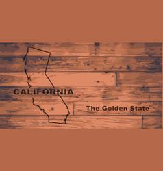 California map brand vector
