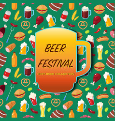 Card for october beer festival vector