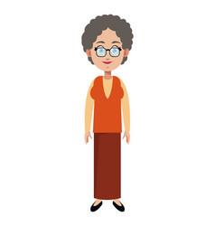Character female memeber family vector
