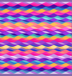 Colored wave seamless pattern vector