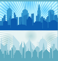 comic city horizontal banners vector image
