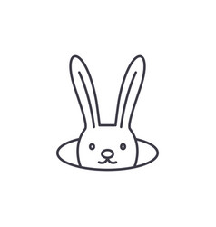 conjure hare line icon concept conjure hare vector image