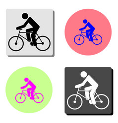 cyclist flat icon vector image