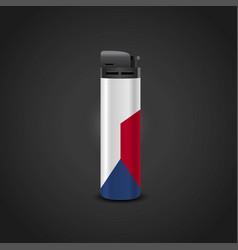Czech republic cigrette lighter design vector