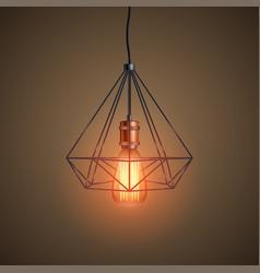 decorative edison light bulb wire vector image