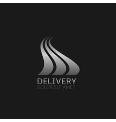 Delivery company logo vector