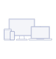 Device and gadget line art set vector