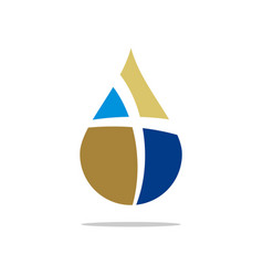 drop water cross logo template design eps vector image