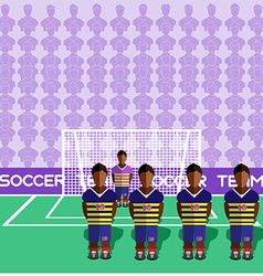 Ecuador Soccer Club Penalty on a Stadium vector