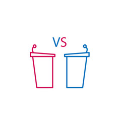 Elections debate tribunes outline colored icon vector