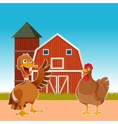 Farm animals on the background vector