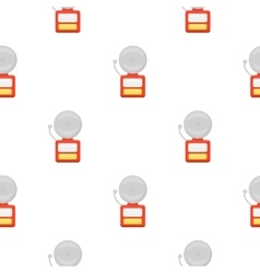 Fire alarm icon cartoon pattern silhouette fire vector image