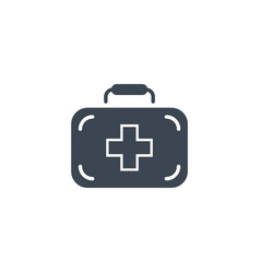 First aid kit related glyph icon vector