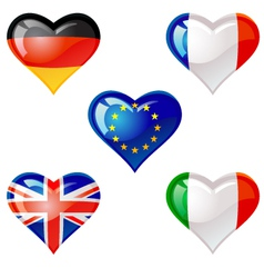flags heart vector image