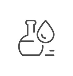 flask with liquid line icon vector image