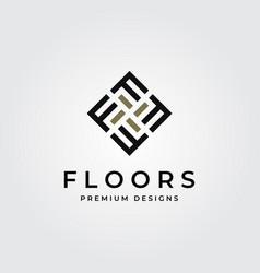 Floor logo initial letter f parquet flooring vector