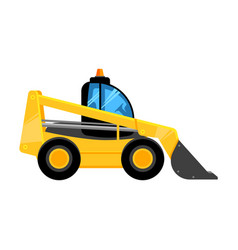 front end yellow loader construct machines digger vector image