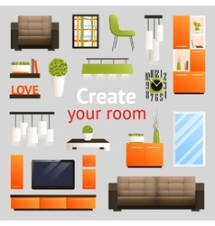 Furniture Objects Set vector image vector image