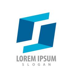 geometric shape letter s concept design symbol vector image
