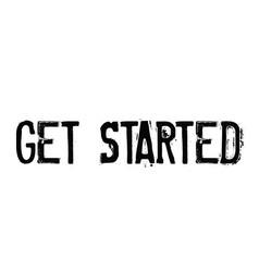 Get started rubber stamp vector