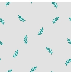 hand drawn leafs seamless pattern vector image