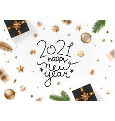 happy new year 2021 holiday greeting card vector image