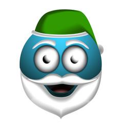 happy santa claus emoji vector image