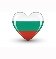 Heart-shaped icon with national flag bulgaria vector