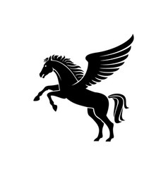 Heraldry horse with wings isolated pegasus vector