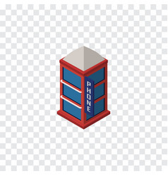 Isolated telephone booth isometric phone box vector
