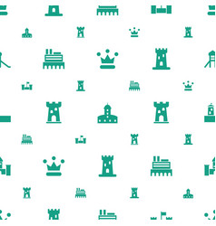 kingdom icons pattern seamless white background vector image