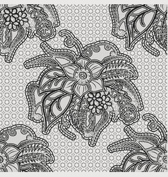 lace seamless texture with large flowers vector image