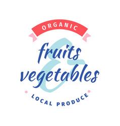 Local fruit and vegetable food fair farmers vector