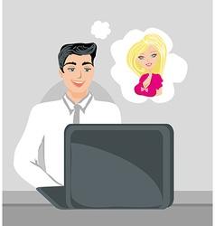 Love in web vector image