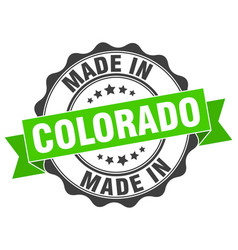 made in colorado round seal vector image