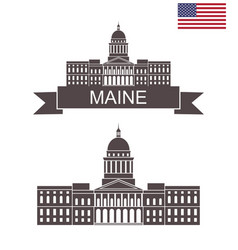 maine vector image