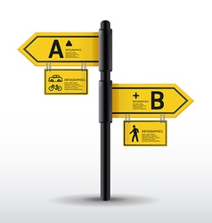 Modern road sign Design template vector image