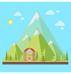 Mountain resort vector image