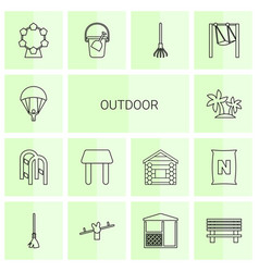Outdoor icons vector