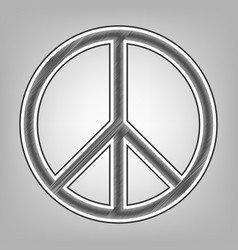 peace sign pencil sketch vector image