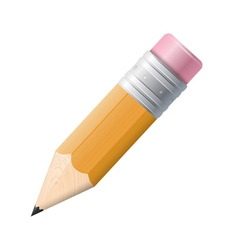 Pencil drawing on a white background Isolated vector image