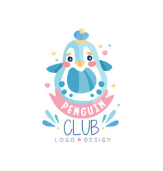 penguin club logo design emblem can be used for vector image