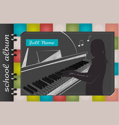 piano school album vector image