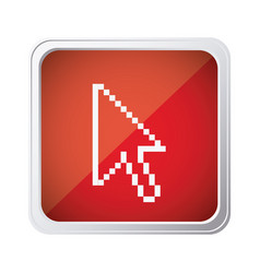 Red emblem mouse cursor icon vector