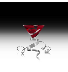red martini vector image vector image
