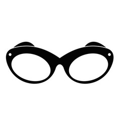 retro spectacles icon simple style vector image
