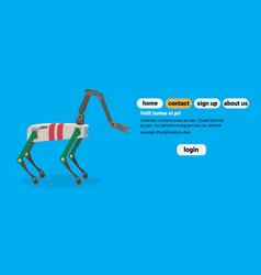 Robot deer cartoon animal robotic mechanical vector