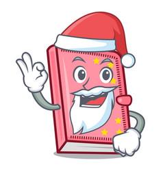 Santa diary mascot cartoon style vector
